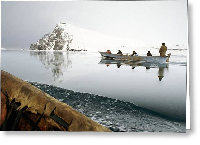 Inuit Sea Hunters Greeting Card by Science Photo Library