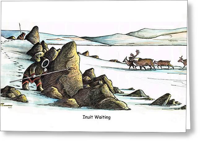 Inuit Waiting Greeting Card