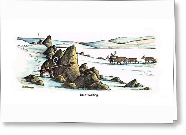 Inuit Waiting Greeting Card