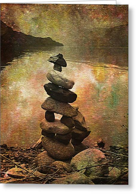 Inukshuk - Northern Lights Night Greeting Card