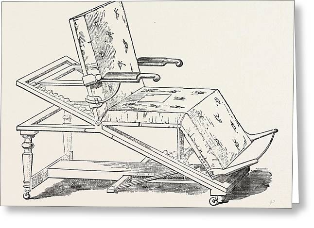 Invalid Chair And Bed Greeting Card by Hinton, English, 19th Century