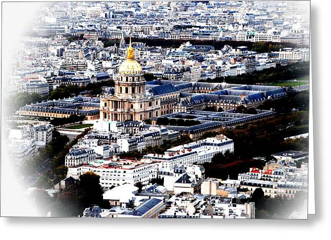 Invalides Paris Greeting Card by Jacqueline M Lewis