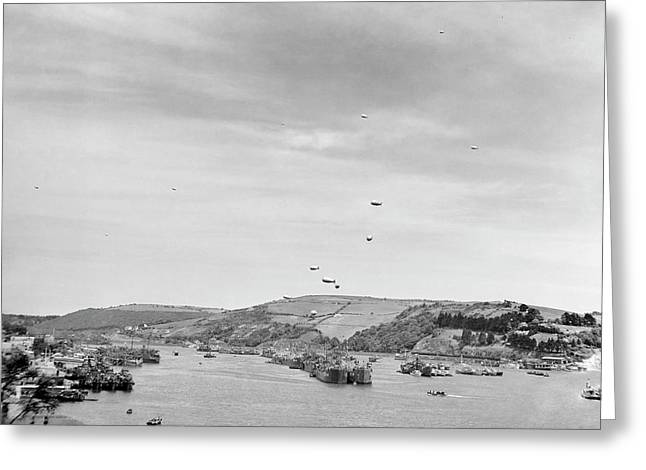 Invasion Of Normandy Shipping Greeting Card by Us Navy
