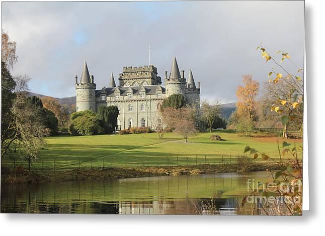 Inveraray Castle Greeting Card by David Grant