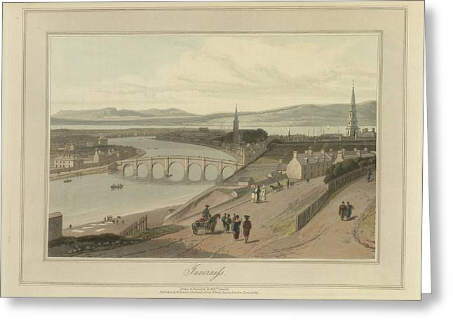 Inverness City On The Moray Firth Greeting Card by British Library