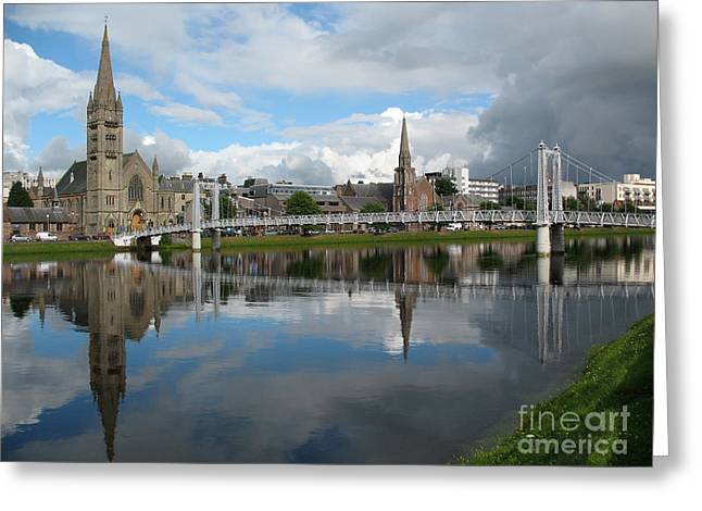 Greeting Card featuring the photograph Inverness Riverscape by Jacqi Elmslie