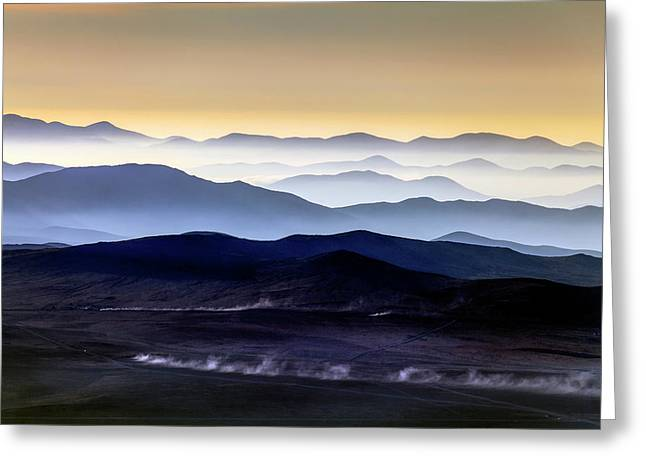 Inversion Layers In The Atacama Desert Greeting Card by Babak Tafreshi