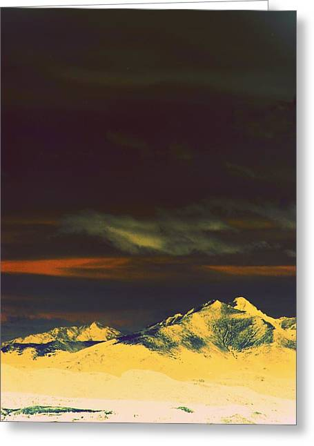 Inverted Peaks Greeting Card by Augustina Trejo