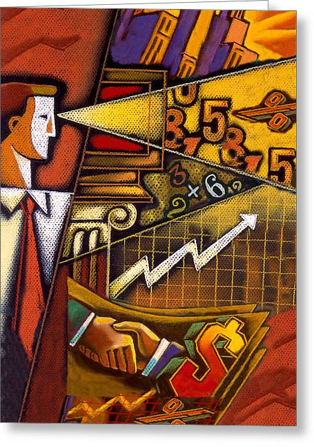 Investor Greeting Card by Leon Zernitsky
