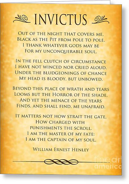 Invictus - Tribute To Nelson Mandela Greeting Card