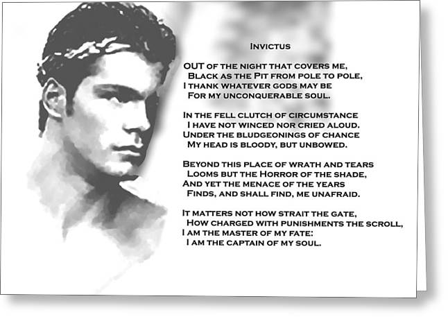 Invictus Greeting Card by Troy Caperton