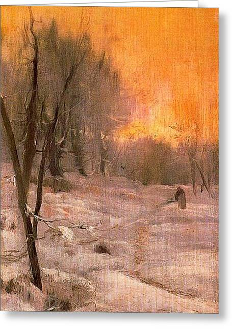 Invierno Greeting Card by Joaquin Mir