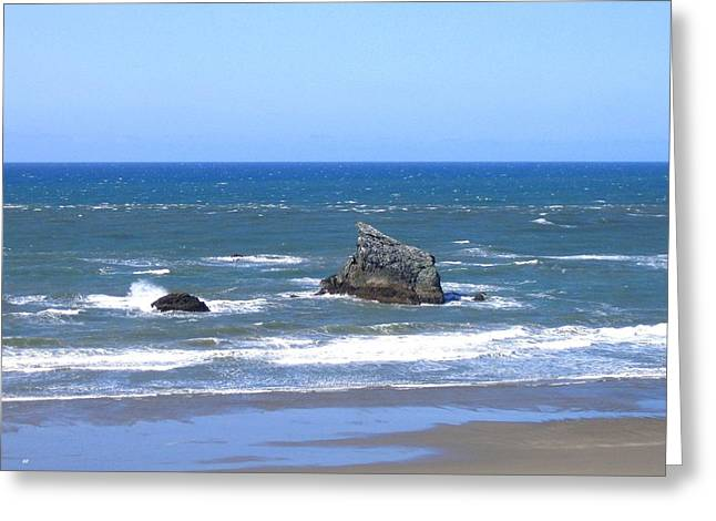 Invigorating Blue Sea Greeting Card