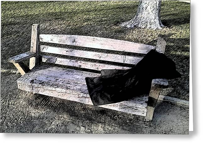 Invisible Man - Homeless In America Greeting Card