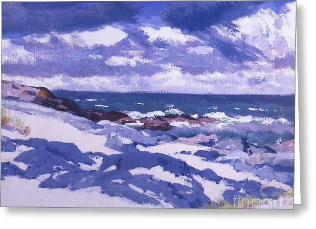 Iona Above Mermaids Greeting Card by Francis Campbell Boileau Cadell
