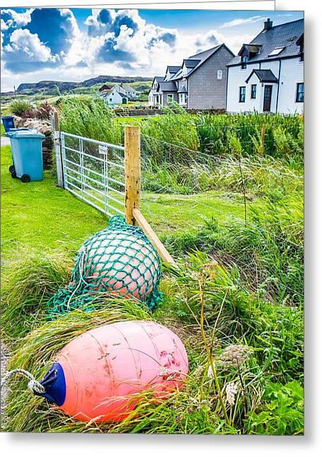 Iona Island Village Scene Greeting Card by Cliff C Morris Jr