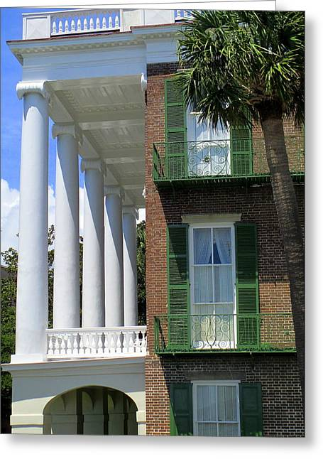 Ionic Columns On The Battery Greeting Card