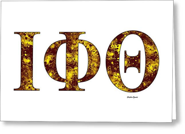 Iota Phi Theta - White Greeting Card by Stephen Younts