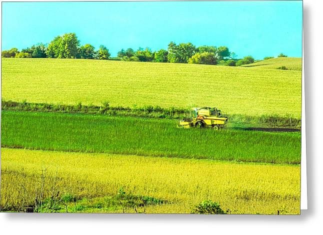 Iowa Farm Land #3 Greeting Card
