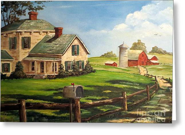 Cherokee Iowa Farm House Greeting Card