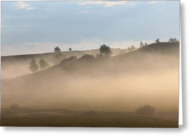Iowa Morning Greeting Card by Angie Phillips