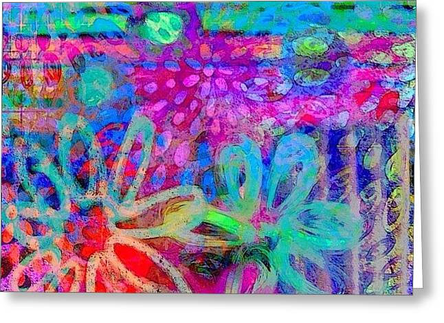 #ipadart #colorful #digitalart #rainbow Greeting Card