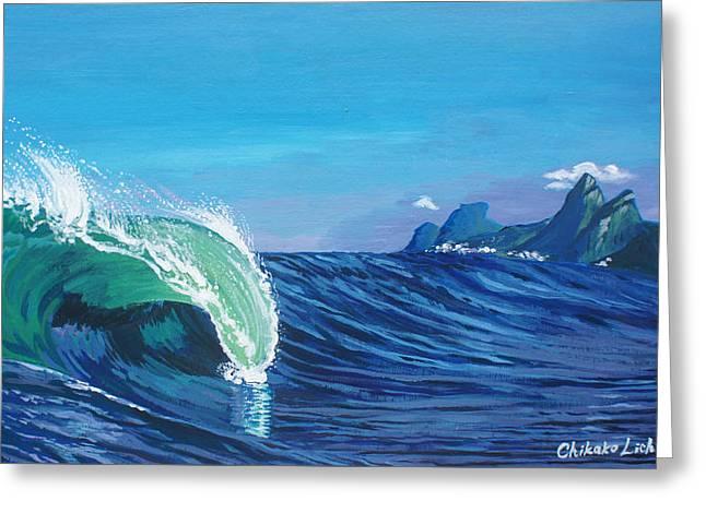 Ipanema Beach Greeting Card by Chikako Hashimoto Lichnowsky
