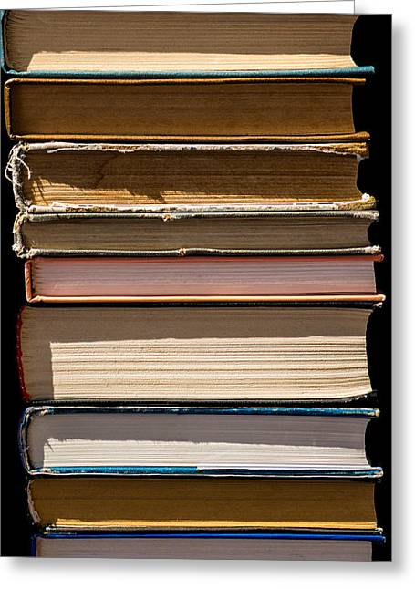 iPhone Case - Pile Of Books Greeting Card by Alexander Senin