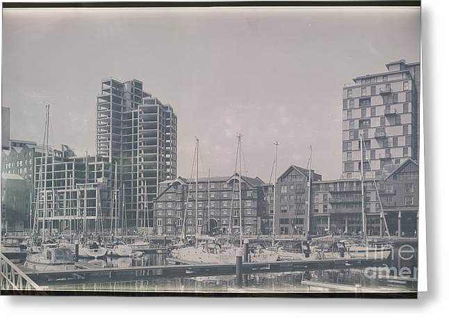 Ipswich Marina Greeting Card by Svetlana Sewell