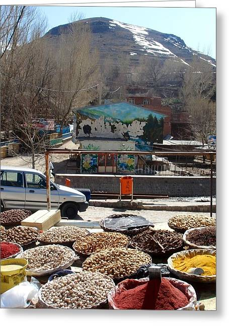 Iran Kandovan Spices Greeting Card by Lois Ivancin Tavaf