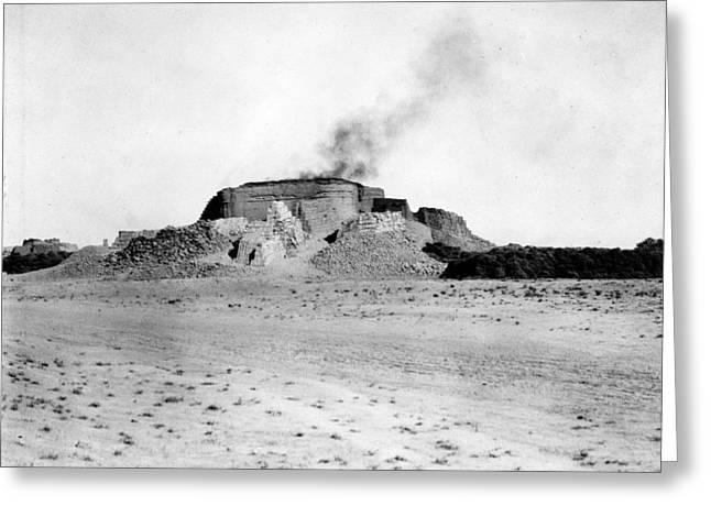 Iraq Brick Kiln, C1932 Greeting Card