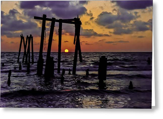 Irb Sunset Greeting Card by Randy Sylvia