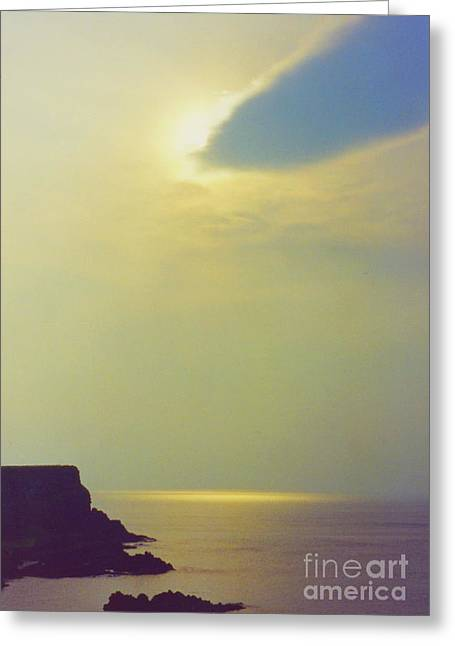 Ireland Giant's Causeway Ethereal Light Greeting Card