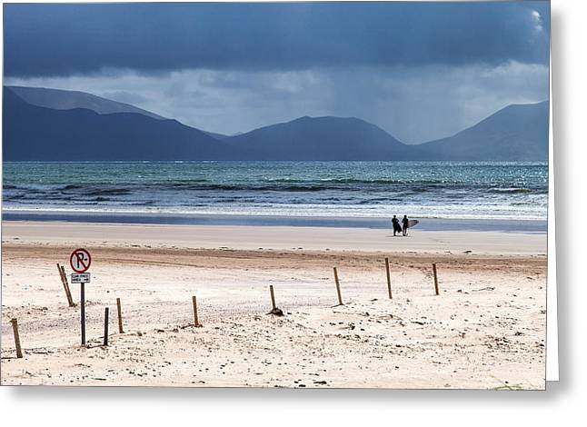Ireland - Inch Beach Greeting Card by Juergen Klust