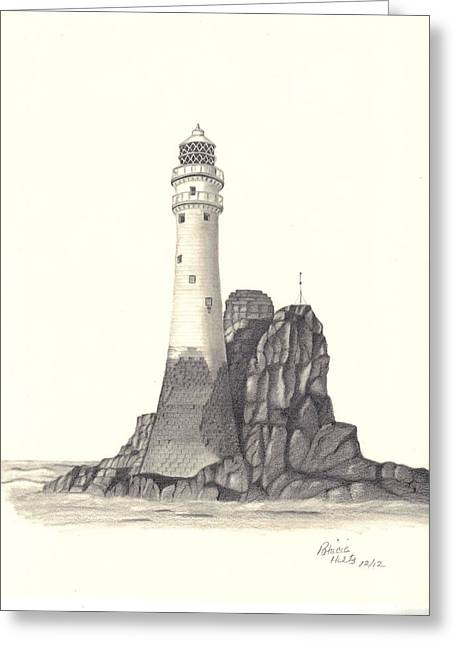 Ireland Lighthouse Greeting Card by Patricia Hiltz