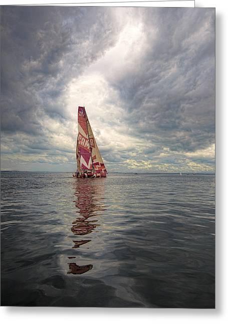 Ireland Sail Greeting Card by Chris Cameron