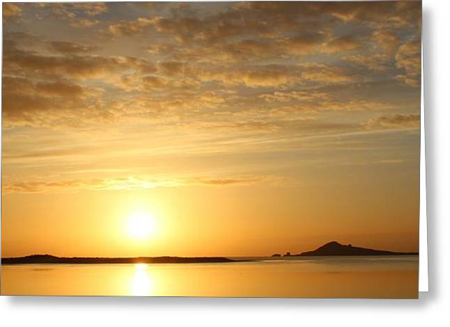 Irelands Eye At Dawn Greeting Card