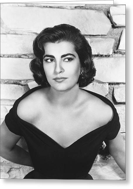 Irene Papas Greeting Card by Silver Screen