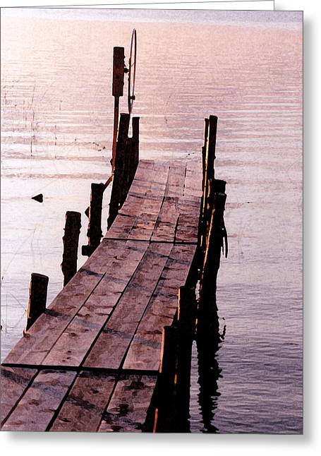 Irene's Dock Greeting Card by Susan Crossman Buscho