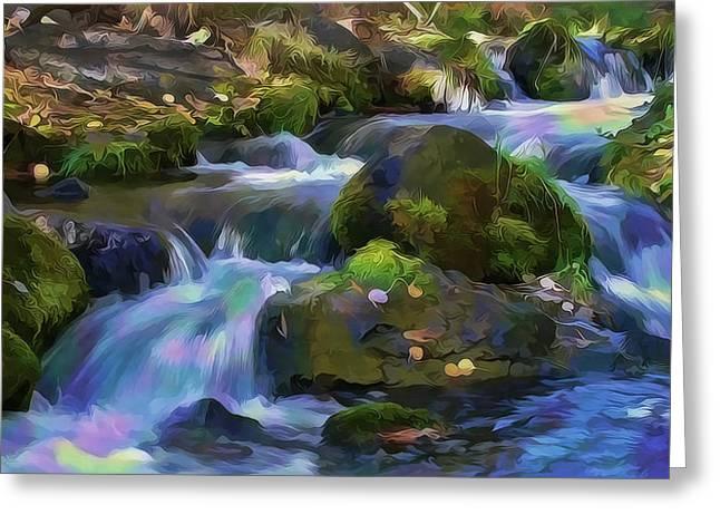 Iridescent Creek By Frank Lee Hawkins Greeting Card