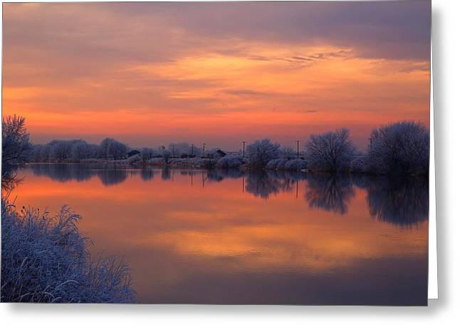 Greeting Card featuring the photograph Iridescent Sunset by Lynn Hopwood