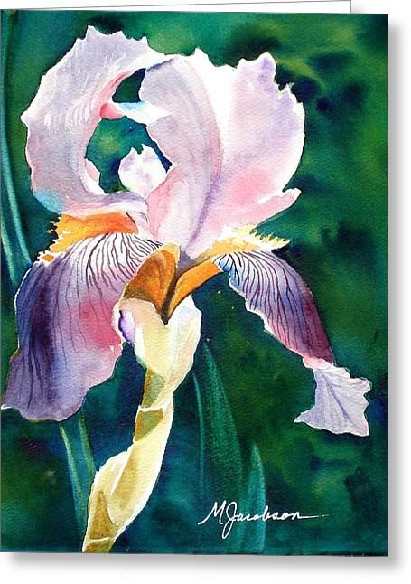 Iris 1 Greeting Card by Marilyn Jacobson