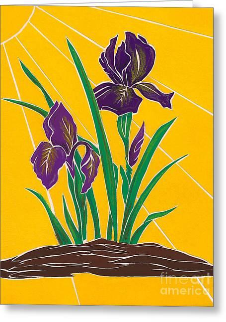 Iris 2 - In The Sun Greeting Card