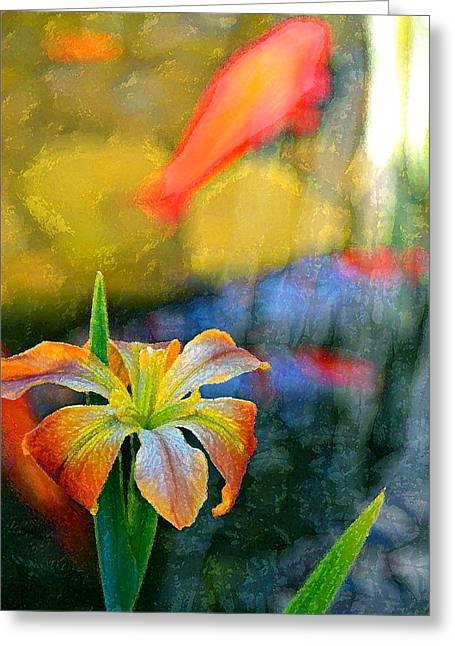 Iris 34 Greeting Card by Pamela Cooper