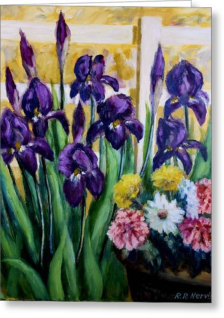 Iris And Friends Greeting Card by Richard Nervig