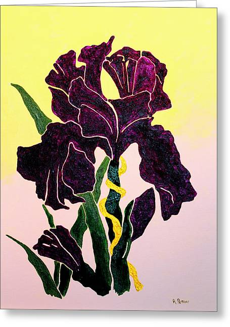 Iris Greeting Card by Andrew Petras