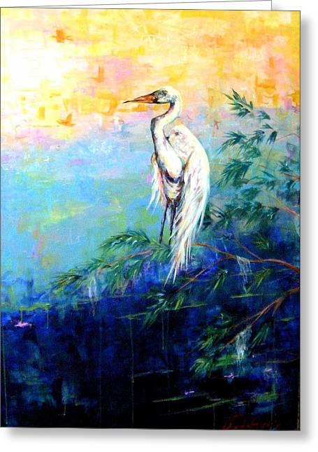 Iris Greeting Card by Dawn Gray Moraga