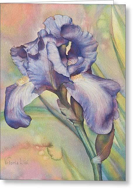 Iris Dreaming Greeting Card
