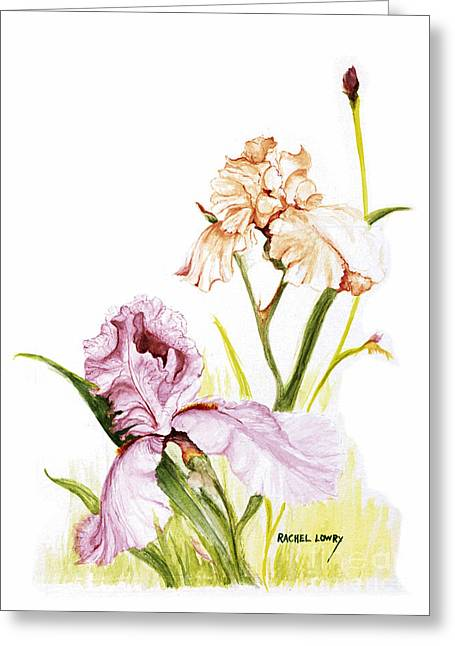 Iris Duo Greeting Card