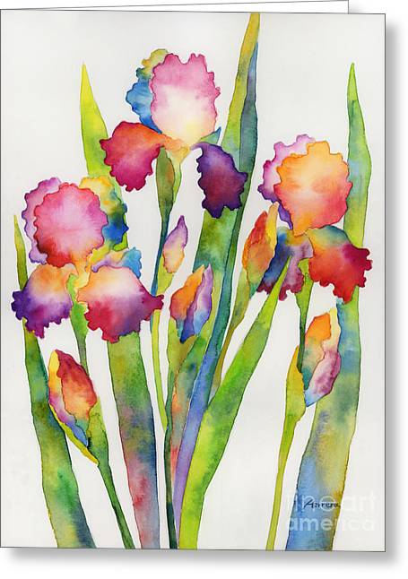 Iris Elegance Greeting Card by Hailey E Herrera